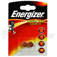 2 x Energizer Alkaline LR43 186 batteries 1.5V 1176A AG12 Watches Calculators