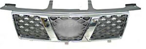 Front Grill Center Grille chromed Fits NISSAN X-TRAIL Facelift 2005-2007