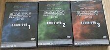 Star Trek Deep Space Nine Bonus DVDs 1 - 3 FedCon Neu OVP Sealed OOP