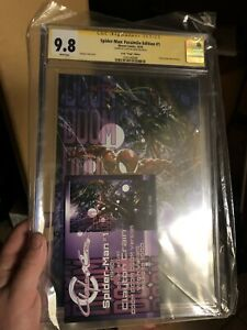 Infinity Signed CGC SS 9.8 Clayton Crain Exclusive Spider Man 1 Virgin Preorder