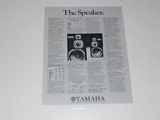 Yamaha NS-1000m Monitor Ultimate Speaker Ad 1975, Specs, Articles