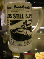 1976 PITTSBURGH STEELERS SUPER BOWL IX CHAMPIONS MUG CUP POST GAZETTE