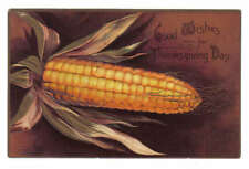 Good Wishes Thanksgiving Day Corn on the Cob Embossed