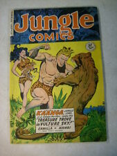 JUNGLE COMICS #119 KAANGA, CAMILLA, WAMBI, FICTION HOUSE, 1949, SIMBA