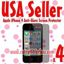 4x Anti Glare Matte Screen Protector Apple iPhone 4 4G
