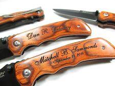 Personalized Engraved Pocket Knife Groomsman Custom Wedding Gift Contour Grip