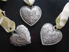 Valentine Heart Pendant Charm Ornaments ~ Set 3 ~ New