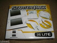 Nintendo DS Lite Accessory Pack Console Game Case Car Charger White Brand New!