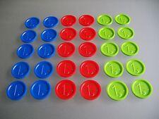 Pfandmarken Wertmarken Event Einkaufswagenchips mit einer 1,- Gravur Ekw 12