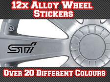 12x Subaru Alloy Wheel Stickers STI Impreza WRX Forester BRZ Vinyl Decals