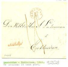 NEDERLAND 1844 BRIEF AMSTERDAM-ENKHUIZEN==NA POSTTIJD=PR EX ZIE TEKST