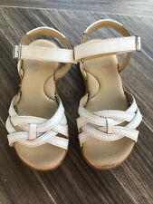 Stride Rite, Girls Size 11, White Leather Sandals, GUC