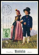 AUSTRIA MK 1956 COSTUMES TRACHTEN MAXIMUMKARTE CARTE MAXIMUM CARD MC CM h0319