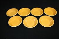 Set of 7 Retro Mid-Century Mikasa Accent Orange Peel Cereal Bowls