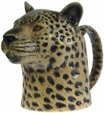 More details for quail ceramics leopard milk jug 13.5cm medium safari animal kitchen pottery gift