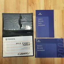2002 TOYOTA  CAMRY OWNERS MANUAL and CASE