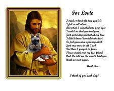 Miniature Schnauzer Dog Memorial Picture w/Jesus-Poem Personalized w/Dog's Name