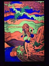 Free Summer Psychedelic Art Blacklight Poster Woodstock Peace Vietnam Pot Weed