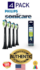 Philips Sonicare - W DiamondClean Replacement Toothbrush Heads (4-pack) - Black