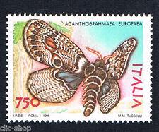 ITALIA 1 FRANCOBOLLO FARFALLE ACANTHOBRAHMAEA EUROPEA 1996 nuovo**