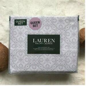 Lauren by RALPH LAUREN 100% Cotton Kaleidoscope Illusion Print QUEEN Sheet Set