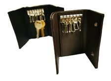 Slim Compact Leather Key Holder Wallet Pouch with 6 Hooks for men and women
