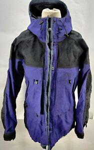Solstice Microshed Women's W M Hooded Rainwear Ski Jacket Purple Black