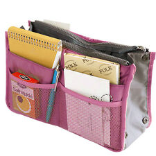 Inside Outside Dual Insert Handbag Makeup Cosmetic Purse Organizer Bag Pocket