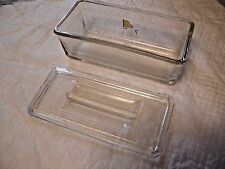 Clear Glass Rectangle Refrigerator Jar with Lid