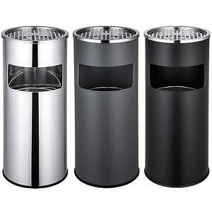 Cendrier sur pied extérieur avec poubelle + seau intérieur à déchets 30l