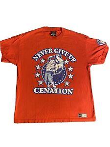 John Cena Cenation Never Give Up WWE Authentic Shirt Men's XL
