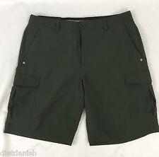 Under Armour Men's Golf Cargo Shorts Heat Gear Textured Dark Green NWT Size 30