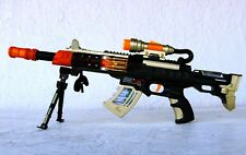 """Light Up Combat  Toy Machine Rifle Battery Operated with Military Sound 23"""" Long"""