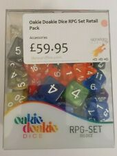 More details for oakie doakie dice - various sizes & designs rpg set - 105 dice
