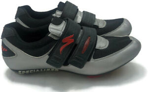 Comp Specialized Men's Cycling/Biking Black/ Silver Shoes Size 10.5