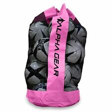ALPHA Gear Quality Ball Bag with Carry Strap - Fits 12 Size 5 Balls  - Magenta