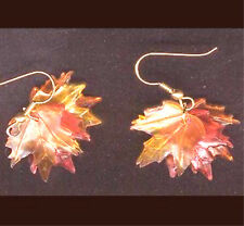 Fall Autumn Tree MAPLE LEAF LEAVES EARRINGS Thanksgiving Holiday Canada Jewelry