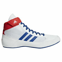 Adidas Havoc Kids Wrestling Shoes Boxing Boots Trainers Childrens White HVC
