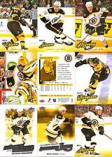 2008-09 UD Fleer Ultra Boston Bruins Master Team Set (10)