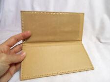 Nwot CHECKBOOK Cover Register Holder and Carbon Copy Divider TAN BEIGE 4 wallet
