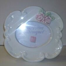 Russ Spring Bouquet Ceramic Frame Oval NIB