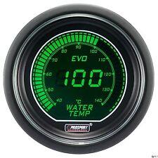 PROSPORT 52mm EVO Series Digital Green White Led Water Temperature Gauge Celsius