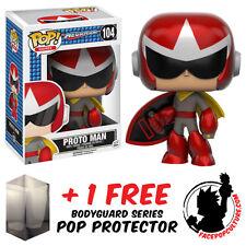 FUNKO POP MEGA MAN PROTO MAN VINYL FIGURE + FREE POP PROTECTOR
