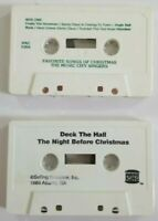 Christmas Audio Cassette Bundle of 2 Tapes No Inlay (SEE DESCRIPTION FOR TITLES)