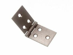 NEW BACKFLAP HINGE SC SELF COLOUR STEEL 30MM X 76MM AND SCREWS (QTY OF 4)