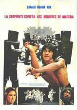 SHAOLIN WOODEN MEN Movie POSTER 27x40 Jackie Chan Jang Lee Hwang Kong Kim Yuen