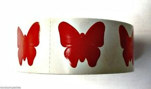 STICKER NEW ROLL OF 1000 BUTTERFLY TANNING STICKERS