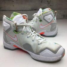 brand new 7d8fa 708b2 Nike LeBron 13 XIII Trece Easter GS 808709-108 White Mango Sz 6Y P5