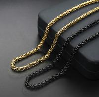 Edel Königskette 5MM Halskette Gold 60cm vergoldet Designer Schmuck Damen Herren