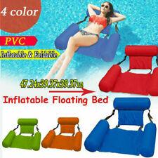 Piscina Inflable Natación Flotante Silla cama de agua asientos plegables tumbonas *